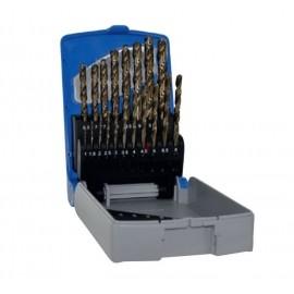 Набор сверл по металлу 1-10 мм HSSE5 [19шт] Tivoly