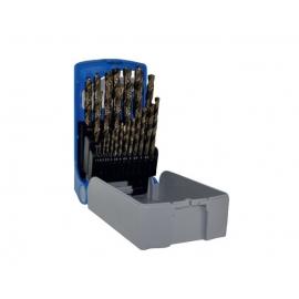 Набір сверл по металу 1-13 мм HSSE5 [25шт] Tivoly