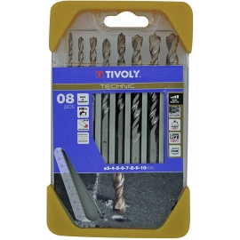 Набір сверл по бетону 3-10 мм Tivoly