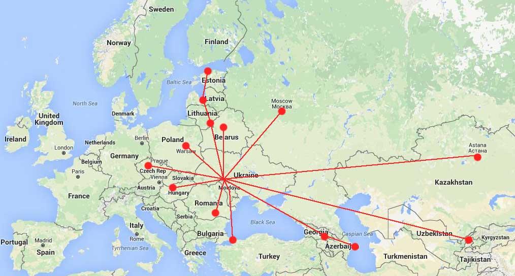 Сверла.инфо - карта партнеров